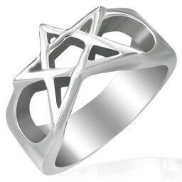 スターラスターステンレスリング(RMT060)サイズ/23号 星の指輪 サージカルステンレス316L 低アレルギー メンズ レディース ペアリング プレゼント ギフト 結婚 婚約 記念日 誕生日 ピンキーリング ファランジリング