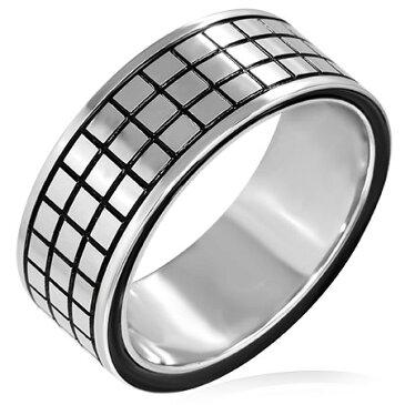 アルディラステンレスリング(SRV178)サイズ/26号 個性的な指輪 黒色 ブラック サージカルステンレス316L メンズ レディース ペアリング プレゼント ギフト 結婚 婚約 記念日 誕生日 ピンキーリング ファランジリング