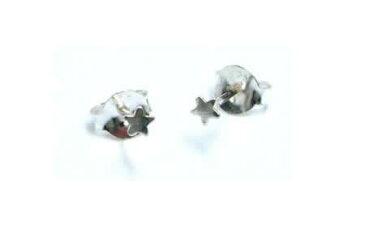 フラットスタースタッドピアス/1ペア 小さい小さい星のピアス 20G 20ゲージ 両耳 シルバー925 スターリングシルバー シルバーピアス キャッチピアス メンズ レディース 高級 オリジナル 耳たぶ 軟骨エスニック