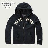 アバクロ Abercrombie&Fitch 正規品 メンズ ジップアップパーカー APPLIQUE LOGO GRAPHIC HOODIE 122-243-0008-200