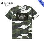 アバクロキッズ Tシャツ ボーイズ 子供服 正規品 AbercrombieKids 半袖Tシャツ クルーネック ロゴTシャツ logo tech tee 223-616-0180-036