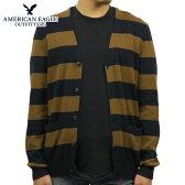 アメリカンイーグル AMERICAN EAGLE 正規品 メンズ カーディガンセーター AE STRIPED CARDIGAN 1149-9745 NAVY-BROWN