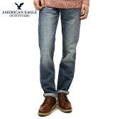 アメリカンイーグル AMERICAN EAGLE 正規品 メンズ ジーンズ Slim Straight Jean 0116-2875 MEDIUM CONTRAST