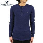 アメリカンイーグル AMERICAN EAGLE 正規品 メンズ ヘンリーネック長袖Tシャツ AEO Thermal Henley 1519-6122
