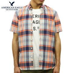 アメリカンイーグルAMERICANEAGLE正規品メンズ半袖シャツAEOSHORTSLEEVEMADRASSHIRT2154-9804-615