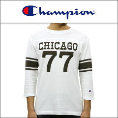 チャンピオンCHAMPION正規販売店メンズ7分袖Tシャツ3/4SLEEVEFOOTBALLT-SHIRTC3-L412WHITE010