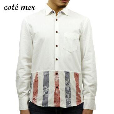 コートメール Cotemer 正規販売店 メンズ シャツ SHIRT SH-S13-014 WHITE-RED D15S25 父の日