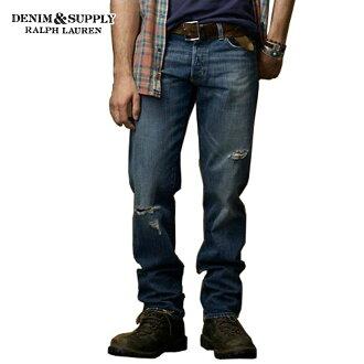 DENIM SUPPLY RALPH LAUREN Ralph Lauren genuine mens jeans Slim-Fit Bryce Wash Jean MEDIUM CONTRAST A44B B1C C2D D1E E07F10P04oct13
