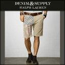 デニムアンドサプライ ポロ ラルフローレン DENIM&SUPPLY RALPH LAUREN 正規品 メンズ ショートパンツ Distressed-Flag Cutoff Short