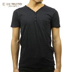 ディストレスDSTREZZED正規販売店メンズ半袖TシャツBASICHENRYNECKTEEDK.NAVY202242BL349