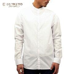 ディストレスDSTREZZED正規販売店メンズシャツBANDCOLLAROXFORDSHIRTWHITE3030841