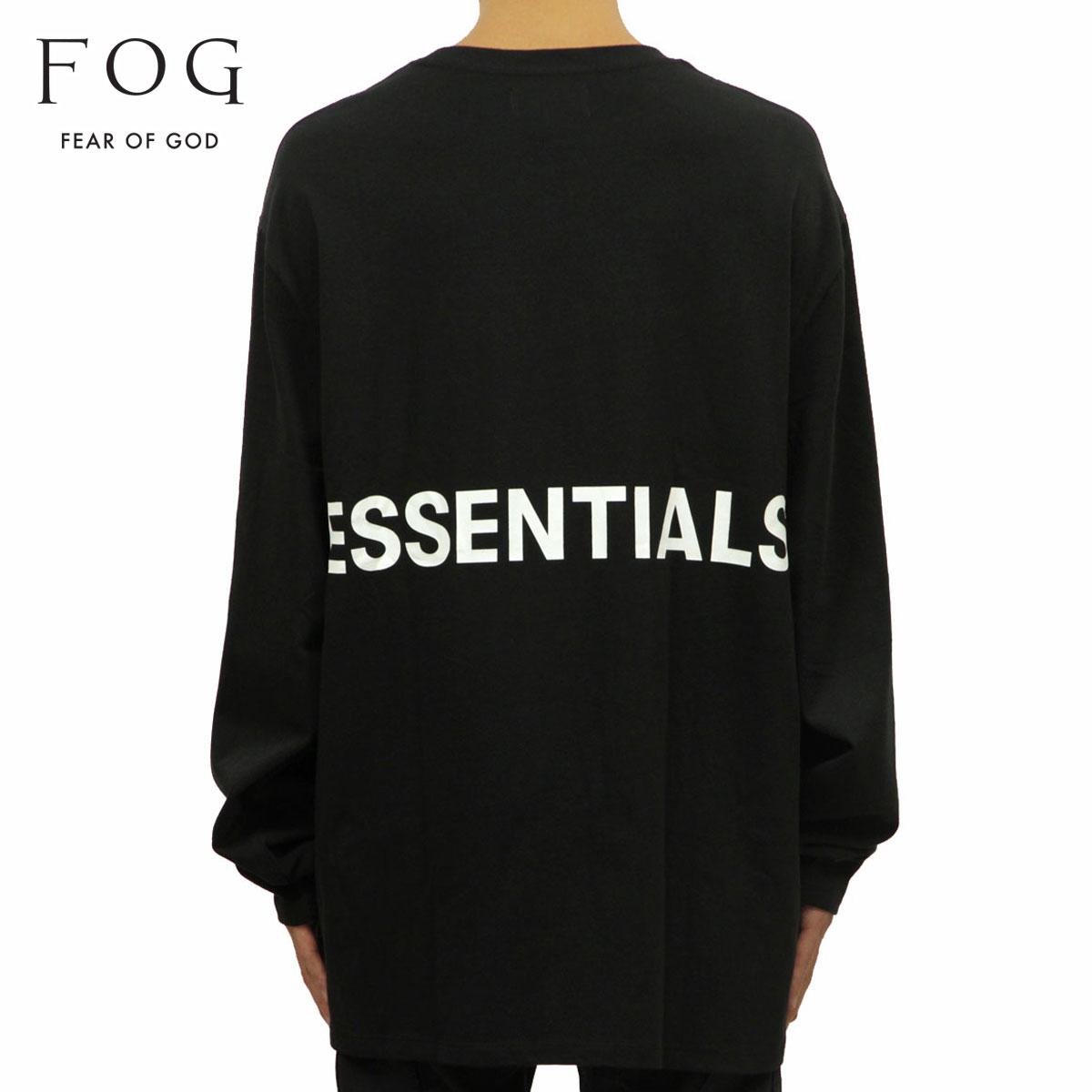 トップス, Tシャツ・カットソー  T FEAR OF GOD T FOG - FEAR OF GOD ESSENTIALS BOXY GRAPHIC LONG SLEEVE T-SHIRT BLACK