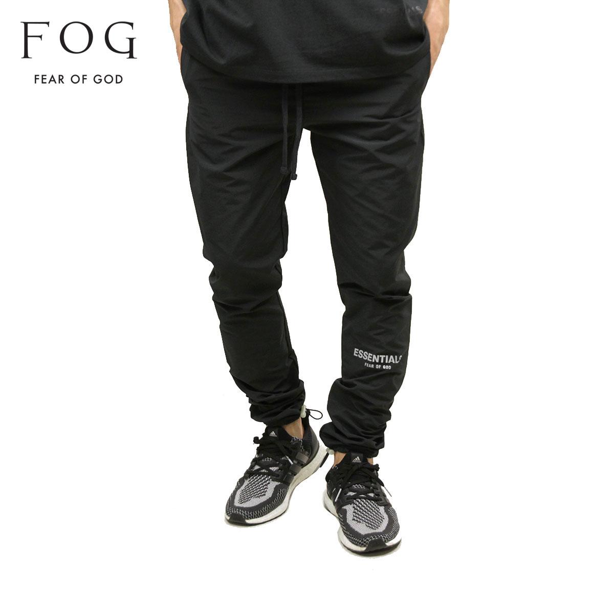 メンズファッション, ズボン・パンツ  FEAR OF GOD FOG - FEAR OF GOD ESSENTIALS NYLON TRACK PANTS BLACK