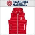 フランクリン マーシャル FRANKLIN&MARSHALL 正規販売店 メンズ ベスト DOWN VEST PATROL RED JKMCA005 1448 5005