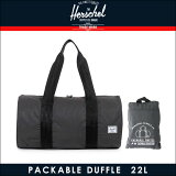 【15%OFFセール 8/17 10:00〜8/23 9:59】 ハーシェル サプライ Herschel Supply 正規販売店 バッグ Packable Duffle - 3M Packable Day/Night 10078-00717-OS Black Reflective