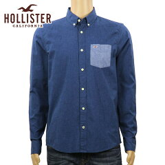 ホリスターHOLLISTER正規品メンズ長袖シャツSolidPoplinShirtEpicFlex325-259-1586-200