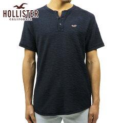 ホリスターHOLLISTER正規品メンズ半袖TシャツTexturedBoucleHenley321-615-0327-200