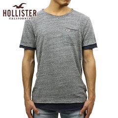 ホリスターHOLLISTER正規品メンズ半袖ポケットTシャツLayeredDistressedPocketT-Shirt324-369-1245-202