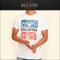 ホリスターHOLLISTER正規品メンズ半袖TシャツCrewGraphicTee323-243-2204-101