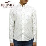 ホリスター HOLLISTER 正規品 メンズ 長袖ボタンダウンシャツ Stretch Patterned Oxford Shirt Epic Flex 325-259-1891-106