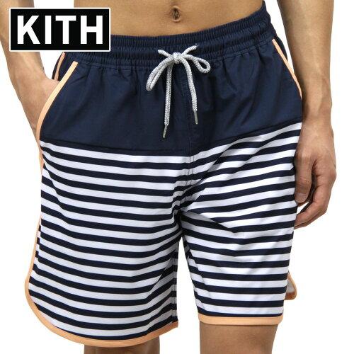 キス KITH 正規品 メンズ 水着 スイムパンツ KITH ROCKAWAY SHORT KH7002-102 NAVY / PINK