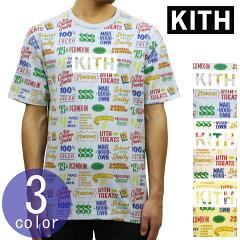 キスKITH正規品メンズクルーネックプリント半袖TシャツKITHTREATS3DTEEKH3258
