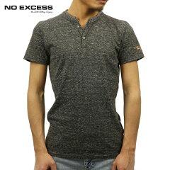 ノーエクセスNOEXCESS正規販売店メンズ半袖ヘンリーTシャツY-NECKTEEBLACK350208020