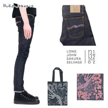 ヌーディージーンズ Nudie Jeans 正規販売店 メンズ ジーンズ ヌーディージーンズ Long John Sakura Selvage - Japanese Selvage Denim Made In Italy