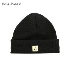 予約商品11月頃入荷予定ヌーディージーンズNudieJeans正規販売店帽子ニットSalomonssonB01Black180687