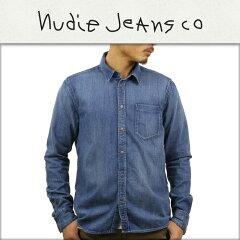 ヌーディージーンズNudieJeans正規販売店メンズ長袖シャツHENRYSHIRTDENIMB26140483