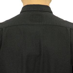 予約商品10-12月頃入荷予定ヌーディージーンズNudieJeans正規販売店メンズ長袖シャツHENRYBATISTEGARMENTDYED1404263011BLACK