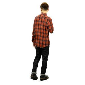 予約商品10-12月頃入荷予定ヌーディージーンズNudieJeans正規販売店メンズ長袖シャツSTENOVERDYEDCHECK1405123014MANTLERED