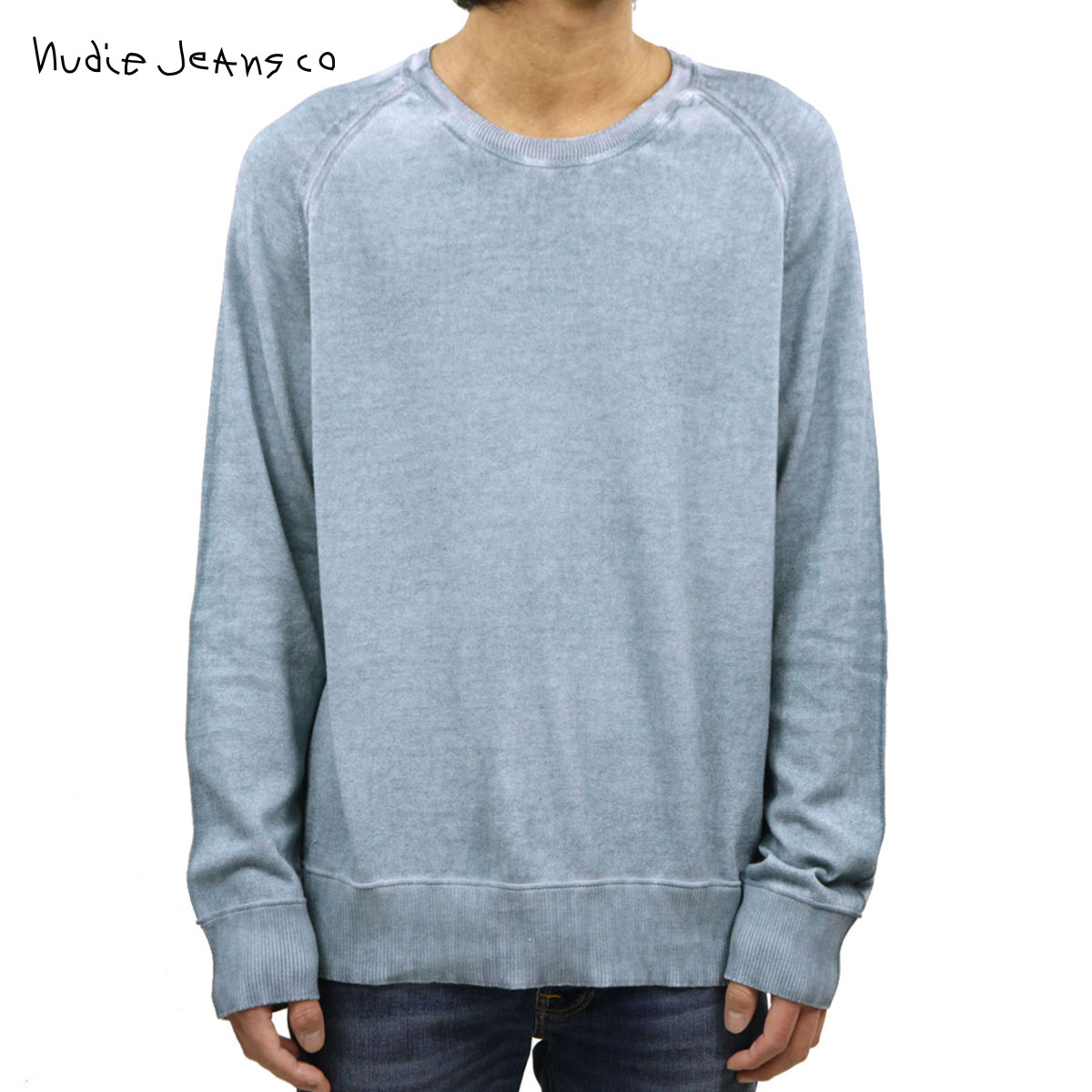トップス, ニット・セーター  Nudie Jeans HANS STRUCTURE KNIT SWEATER C29 150347 BLUE METAL