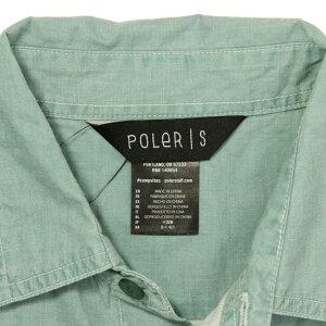 ポーラーPOLER正規販売店メンズ半袖シャツWASHEDUPS/SWOVEN717105-GRNGREEN