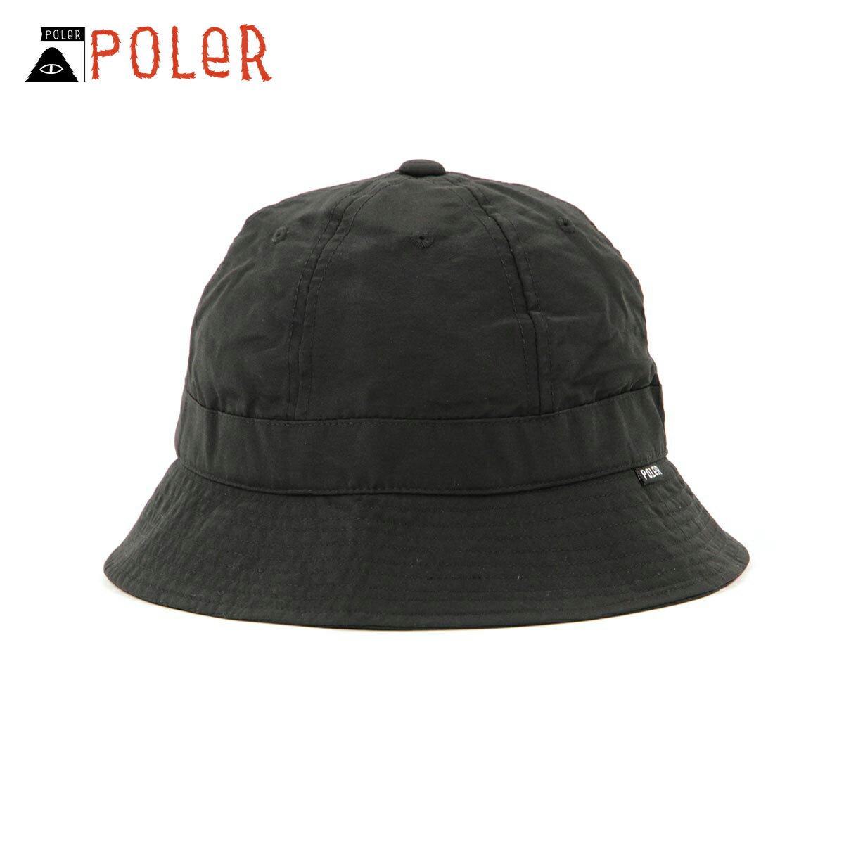 メンズ帽子, ハット  POLER POLER COMFORT BELL HAT 55100152-BLK BLACK