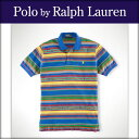【15%OFFセール 12/16 20:00?12/21 1:59】 ポロ ラルフローレン POLO RALPH LAUREN 正規品 メンズ ポロシャツ Classic Serape-Striped Polo BLUE