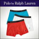 ポロ ラルフローレン POLO RALPH LAUREN 正規品 メンズ ボクサーブリーフ3パック Boxer Brief 3-Pack WHITE RED BLUE