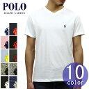 ポロ ラルフローレン POLO RALPH LAUREN 正規品 メンズ Vネック ワンポイント 刺繍入り 半袖Tシャツ SHORT-SLEEVED V-NECK TEE