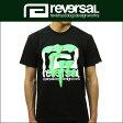 リバーサル REVERSAL 正規販売店 メンズ 半袖Tシャツ NEON DRIP BIG MARK COTTON TEE rv17ss003 BLACK