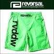予約商品 7月頃入荷予定 リバーサル REVERSAL 正規販売店 メンズ ショートパンツ NEON COLOR FIGHT SHORTS rv17ss057 N-GREEN