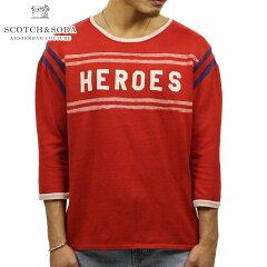 スコッチアンドソーダSCOTCH&SODA正規販売店メンズ七分袖TシャツVINTAGESPORTST-SHIRT13429818COMBOB