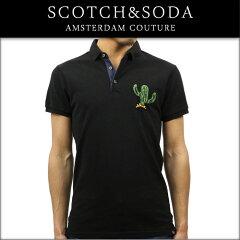 スコッチアンドソーダSCOTCH&SODA正規販売店メンズポロシャツCHESTBADGEANDCOCLASSICPOLO1365270008BLACK