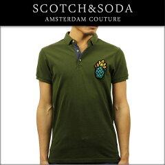 スコッチアンドソーダSCOTCH&SODA正規販売店メンズポロシャツCHESTBADGEANDCOCLASSICPOLO1365270360MILITAR
