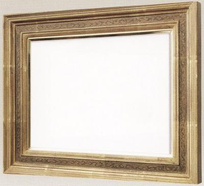 【送料無料】油絵用額縁 F4号キャンバス用珠回廊 金(同志舎) 木製