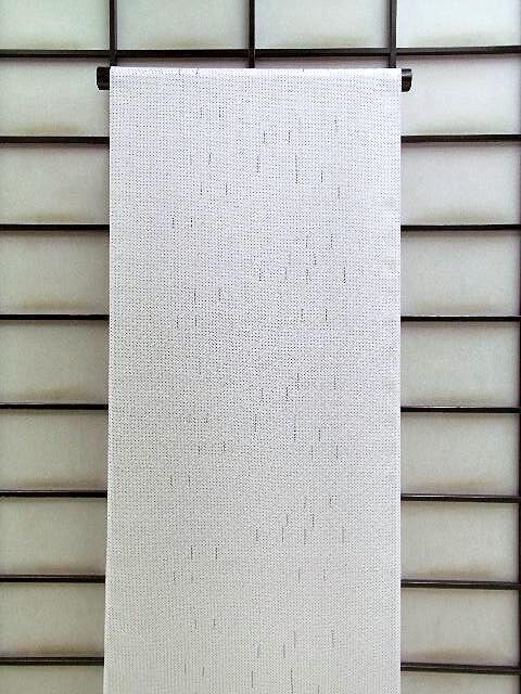 丹後ちりめん★正絹小紋着尺★シルバー地に絞り柄no102:京の呉服屋・雅サロン
