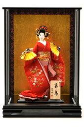 日本人形 10号 柴田家千代 華恋 高級ケース入り 尾山 御所 舞踊 人形 着物 JAPAN