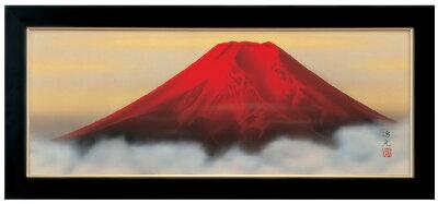 絵画 赤富士 西森湧光作