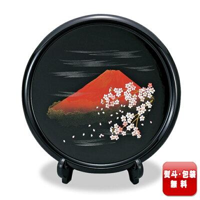 木製 10.0 飾り皿 富士さくら