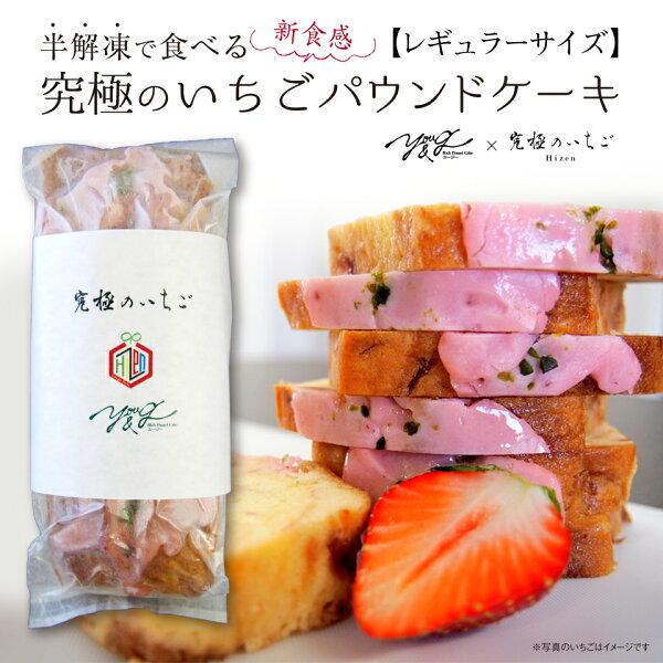 半解凍で食べる究極のいちごパウンドケーキ レギュラーサイズ560g 新食感スイーツ洋菓子お菓子YOU&GユージーHizen完