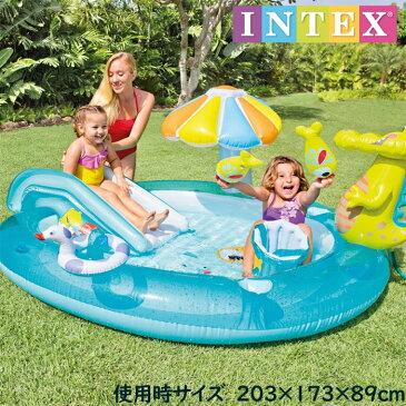 ビニールプール 家庭用プール 子供用プール ゲータープレイセンター 滑り台 噴水 おもちゃ付き 夏休み ファミリープール 大型
